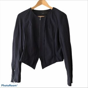 Black BCBG zip up